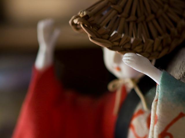 阿波踊りの人形の写真(フリー素材)