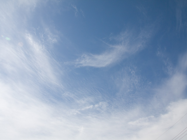 秋の空の写真(フリー素材)