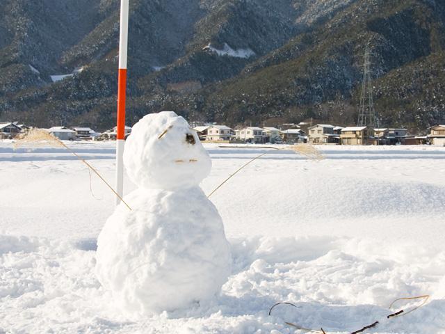 雪だるまの写真(フリー素材)
